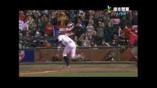 0318 WBC 波多黎各vs日本-9下 糸井假裝自打球 - YouTube