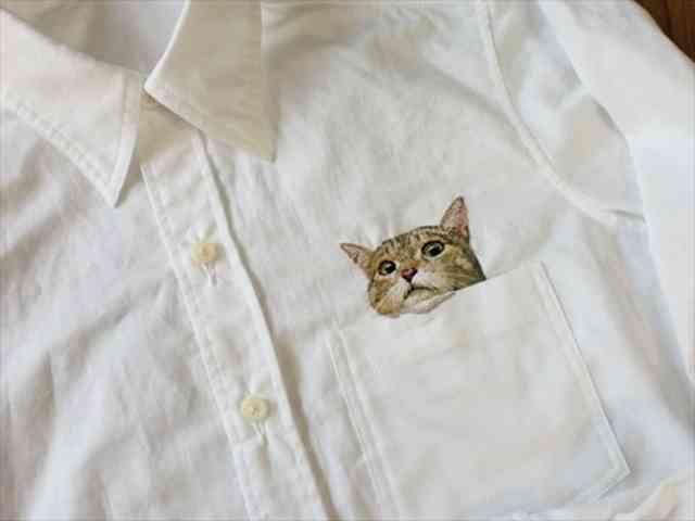 致死量のかわいさ「猫の刺繍シャツ」に世界が絶賛悶絶中