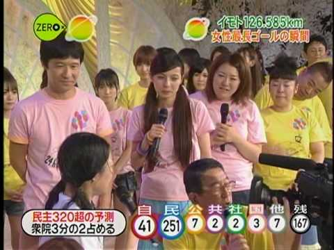 24 hr tv NEWS - Imoto goal, Tegoshi Imoto hug - YouTube