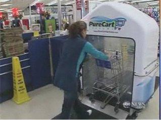 【カートウォッシュ】、ホントはきったねぇ買物カートに洗浄装置:激しくウォルマートなアメリカ小売業ブログ