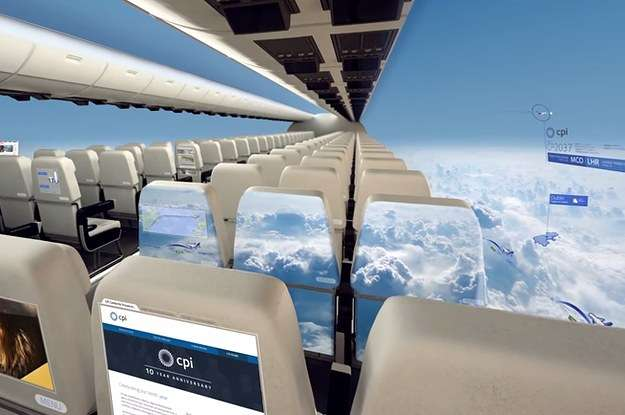 Windowless Planes Could Take To The Skies In 10 Years
