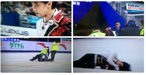 羽生結弦 公式練習で中国選手と激突し転倒…リンクに倒れこみ大流血 - NAVER まとめ
