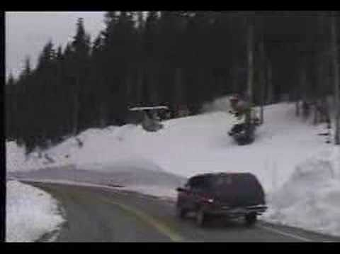 Snowboard Jump Over Road! - YouTube