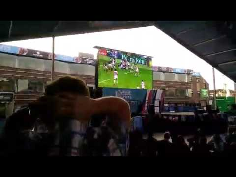 Irish fans in Cardiff go crazy for Japanese win against South Africa - YouTube