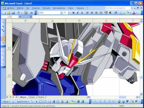 Drawing in Microsoft Excel - YouTube