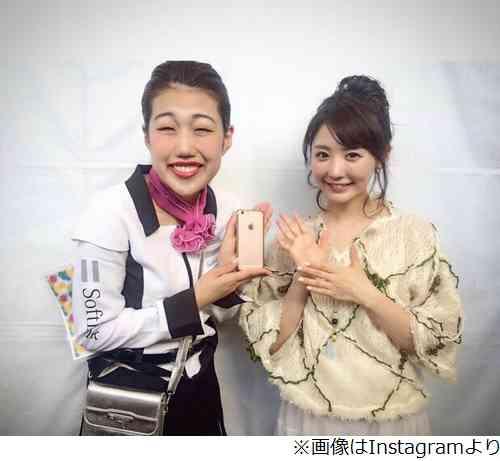 おのののかと横澤夏子がツーショット、顔の大きさが違いすぎると話題。
