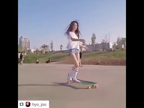 "Korean Longboarding girl Hyo Joo skating to Kero's ""So Seductive"" (viral video) - YouTube"