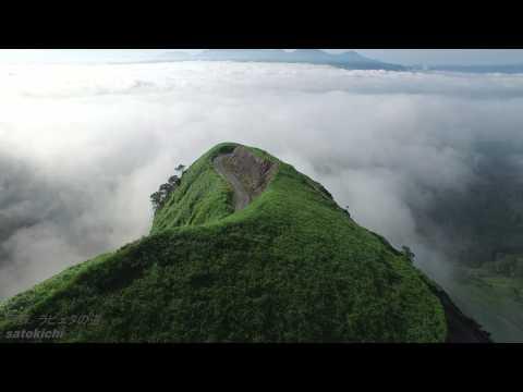 【絶景】【4K】 雲海の中のラピュタの道 阿蘇 【空撮】 - YouTube