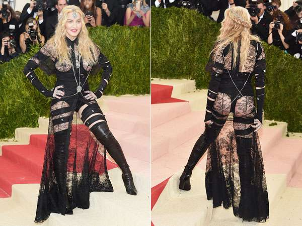 Met Gala 2016: Madonna Dons Sheer Givenchy Dress – Style News - StyleWatch - People.com
