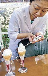 温かいソフトクリーム誕生 最高60度、金沢の研究所開発