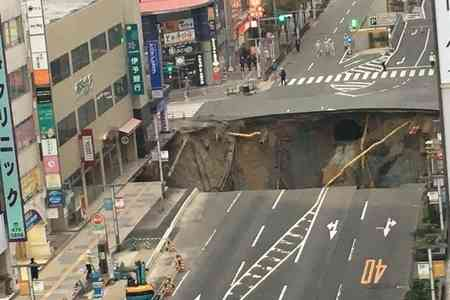 【現場画像】博多駅前 はかた駅前通りで道路陥没事故 博多駅周辺では停電、ガス漏れの恐れで避難指示も… | まとめまとめ