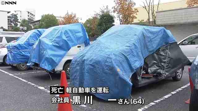 高齢者の運転する車が相次いで衝突する事故 5人死傷