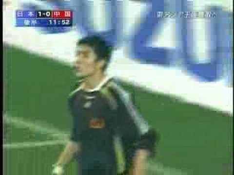 Chinese Keeper's KUNG FU Kick !! 中国キーパーのカンフーキック! - YouTube