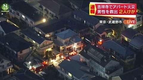 JR吉祥寺駅近くのアパートで火事、2人けが(TBS系(JNN)) - Yahoo!ニュース