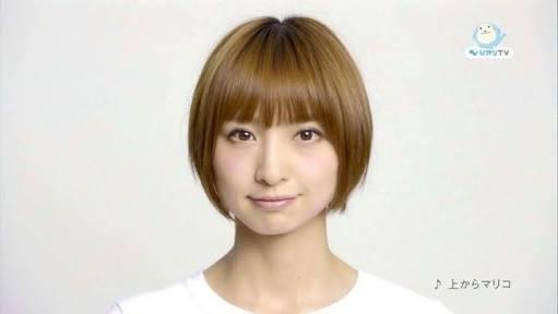 丸顔に似合うショートヘア