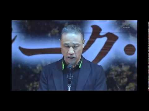 ギレン・ザビ演説 ~ガルマ国葬~銀河万丈さんの生演説 - YouTube