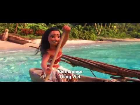 「モアナと伝説の海」 HOW FAR I'LL GO -24ヶ国語版 - YouTube