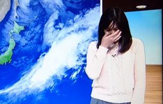 【放送事故】お天気お姉さん本番中に泣き出す NHK山形、画面切り替わる