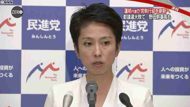 民進党・蓮舫代表 執行部交代の意向固める(日本テレビ系(NNN)) - Yahoo!ニュース