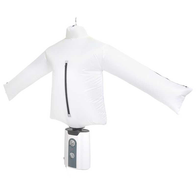 シャツを膨らませたエアバッグで乾かす発想 シワを伸ばしてくれる乾燥機「アイロンいら~ず」が発売