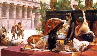 有罪の囚人で毒を試すクレオパトラ : Renaissance