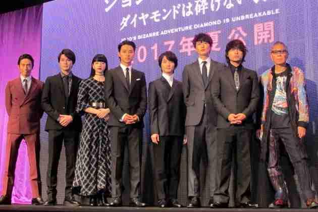 伊勢谷友介 『ジョジョ』メンバー集結も「こいつらとの舞台挨拶はハラハラする」