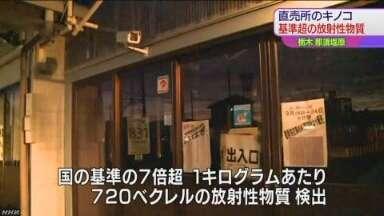 直売所のキノコから放射性物質|NHK 栃木県のニュース