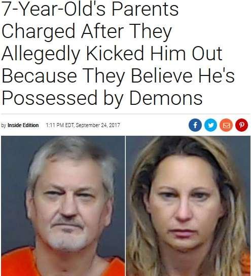 「悪魔が棲みついている」7歳男児を家から追い出した鬼畜の親(米)