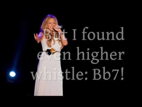 Mariah Carey 5 octaves in 1 minute (G#2 Bb7) - YouTube