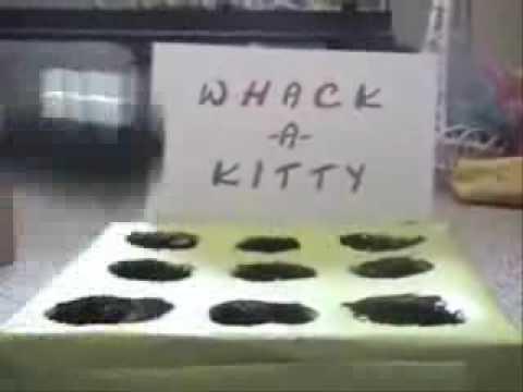 子猫でモグラ叩きゲーム - YouTube