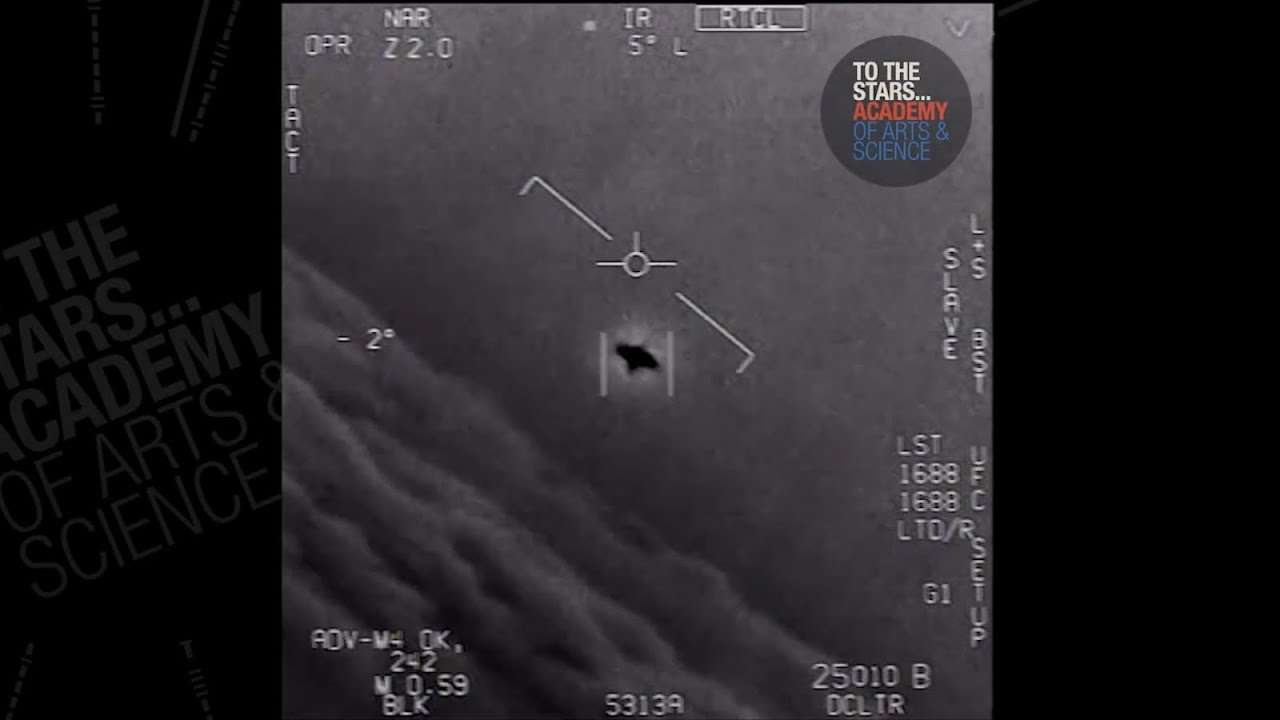 Video shows US Navy jet tracking mysterious UFO - YouTube