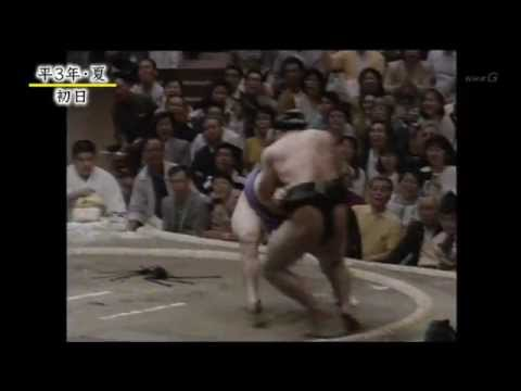 貴花田 vs 千代の富士【千代の富士 引退のきっかけとなった一番】 - YouTube