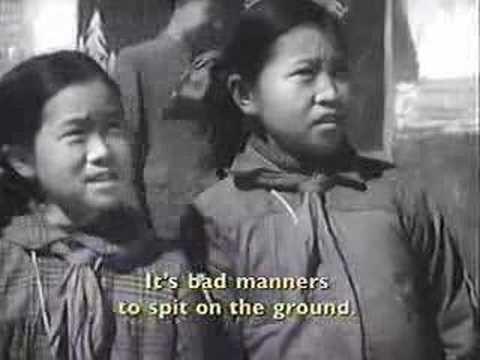 China Anti-spitting Campaign (c. 1950) - YouTube