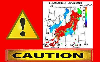 [TEC値の法則]日本列島全体が赤く表示されました。数日以内に強い地震が発生する見込みです。地震への警戒を高めてください(7月1日更新)