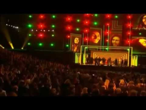 """Grammy Awards 2013"" (bob marley tribute) could you be loved - YouTube"