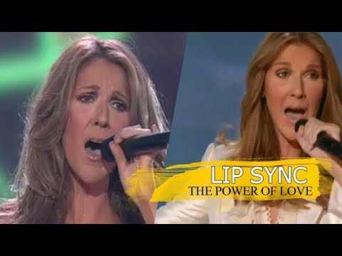Celine Dion - The Power Of Love - Lip Sync (Side by Side) - YouTube