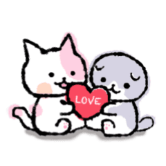 Pastel calico cat and Scottish Fold – LINE stickers | LINE STORE