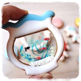 金魚鉢に泳ぐ金魚が可愛いアイシングクッキーが戸惑う程に可愛く美しい | おたくま経済新聞