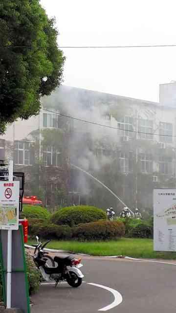 九州大箱崎キャンパスで爆発音 1人の焼死体発見