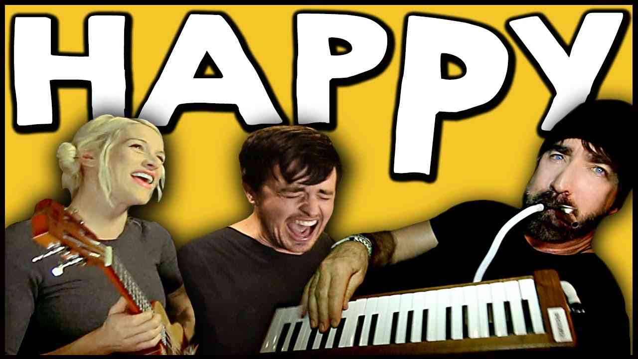 HAPPY - Walk off the Earth Ft. Parachute - YouTube