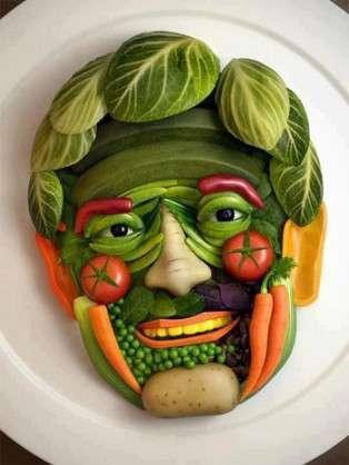 食べ物で作ったアート画像が見たい