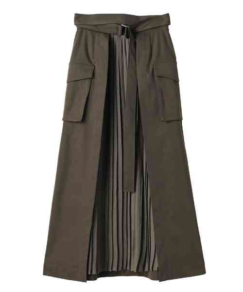 CLANE(クラネ)の「MILITARY PLEATS DOCKING SKIRT(スカート)」 - WEAR