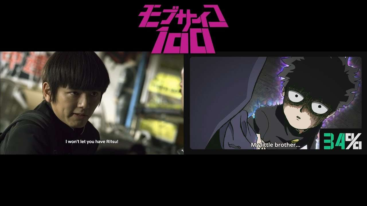 Mob Psycho 100 Live Action Comparison - YouTube