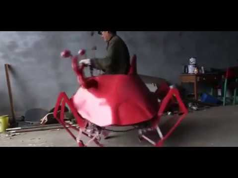 Chinese farmer invents  robo crab - YouTube