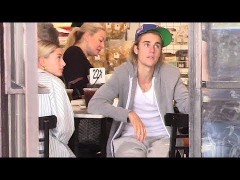 Justin Bieber And Hailey Baldwin Brunch With A Baby On Board - YouTube